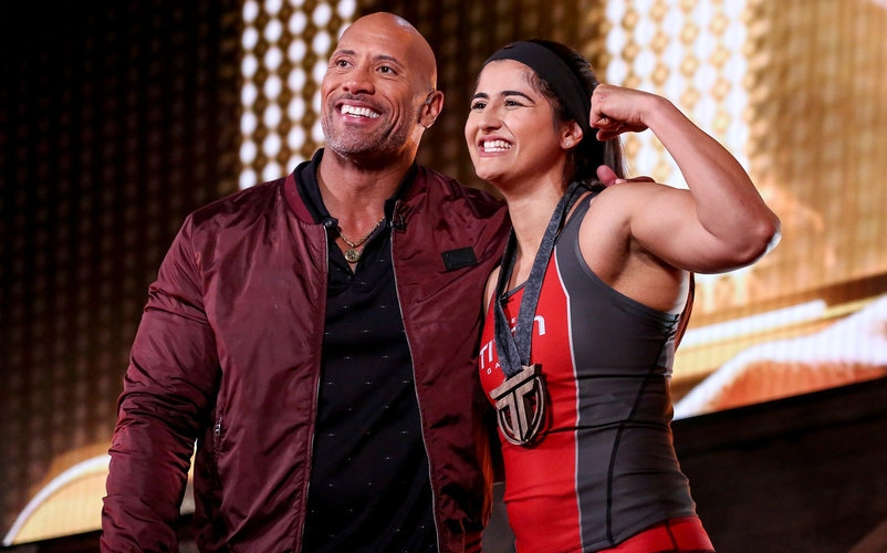 Dwayne Johnson and Nika Sedghi