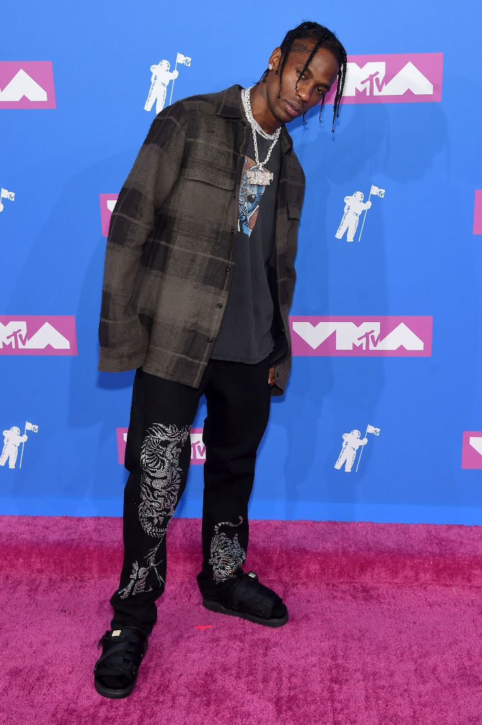 Travis Scott attends the 2018 MTV Video Music Awards at Radio City Music Hall on August 20, 2018 in New York City.