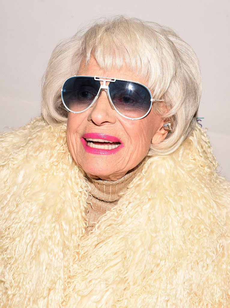 "Carol Channing attends the World Premiere of ""Broadway Beyond the Golden Age"" at the 27th Annual Palm Springs International Film Festival on January 7, 2016 in Palm Springs, California."
