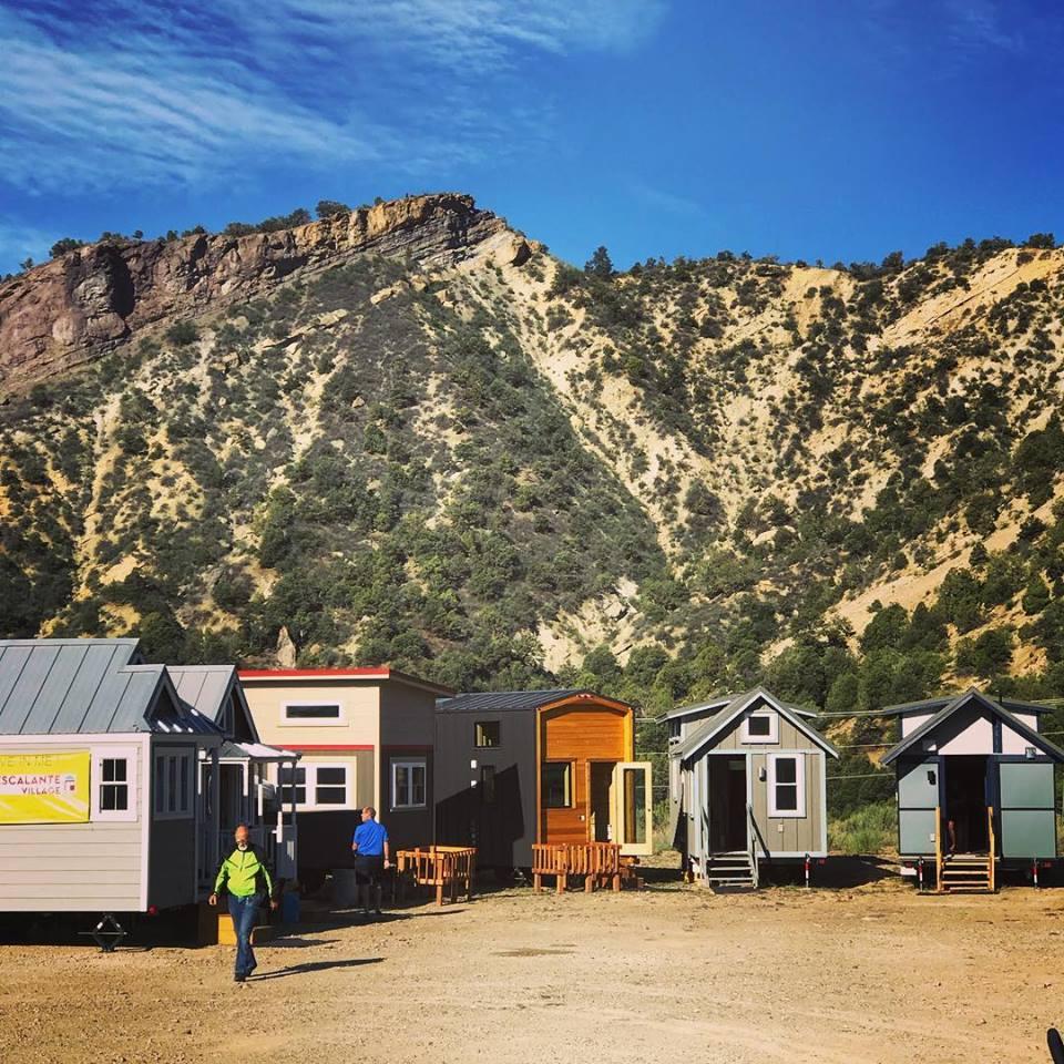 Tiny house village in Colorado