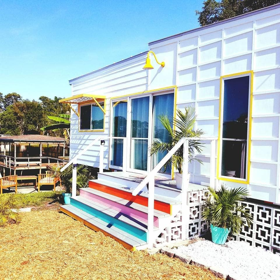 Beachy tiny house