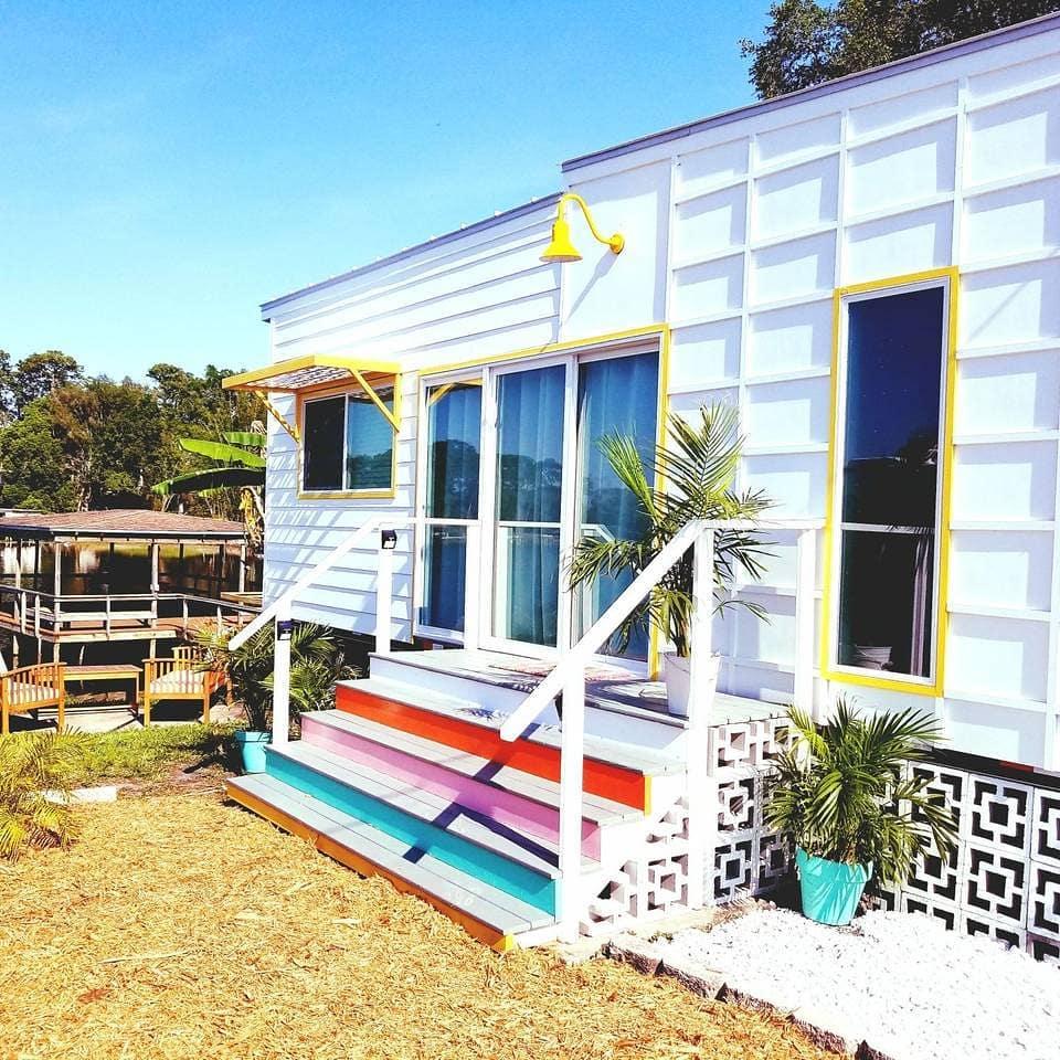 Beachy tiny house