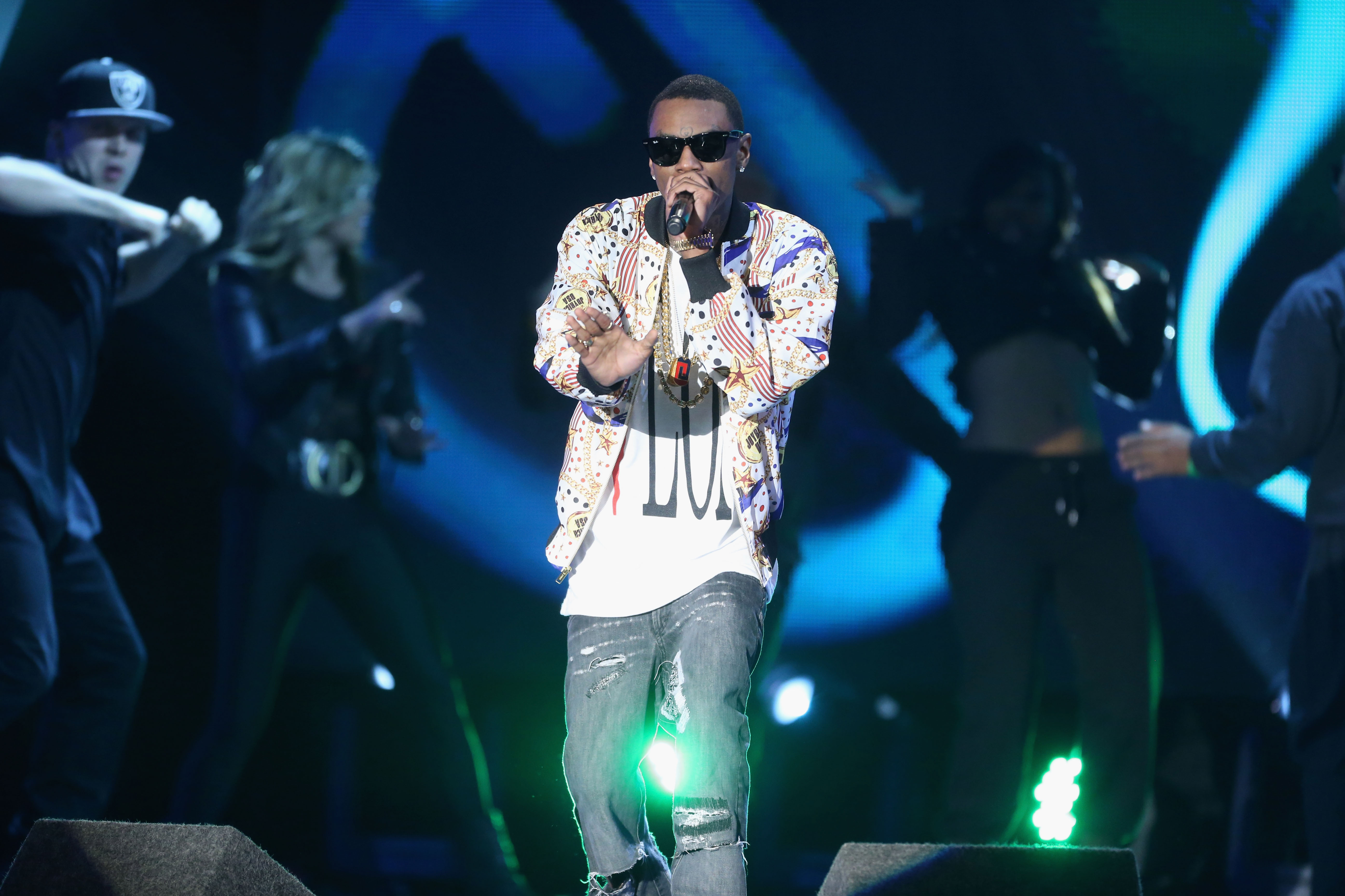 Soulja Boy performs onstage at the 3rd Annual Streamy Awards at Hollywood Palladium on February 17, 2013 in Hollywood, California.