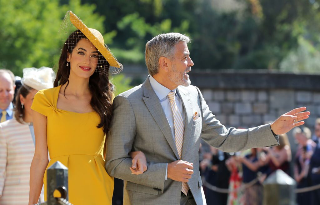 Amal and George Clooney at the royal wedding in May 2018.
