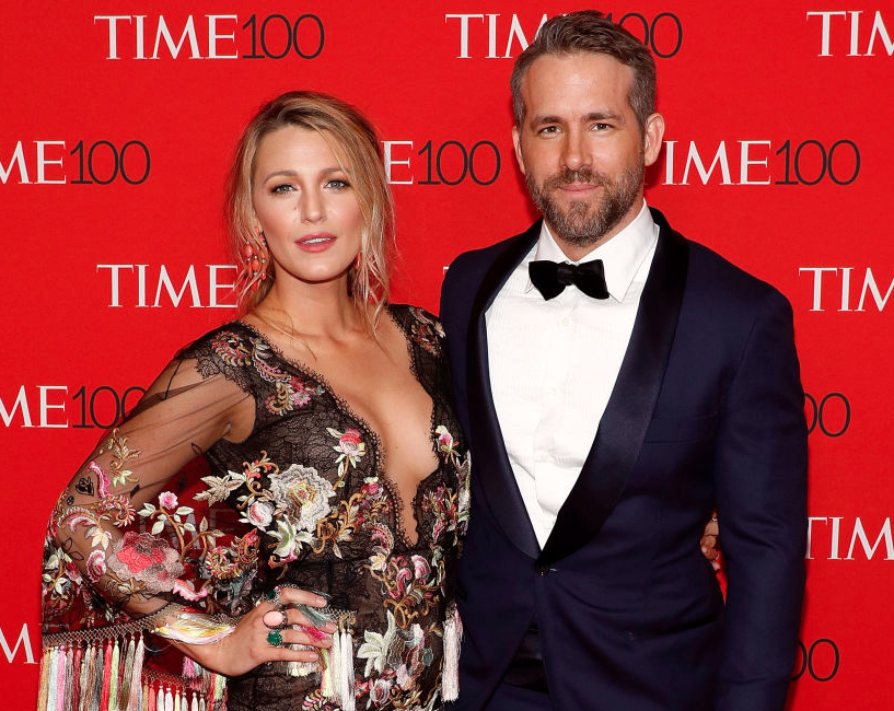 Blake Lively and Ryan Reynolds posing together