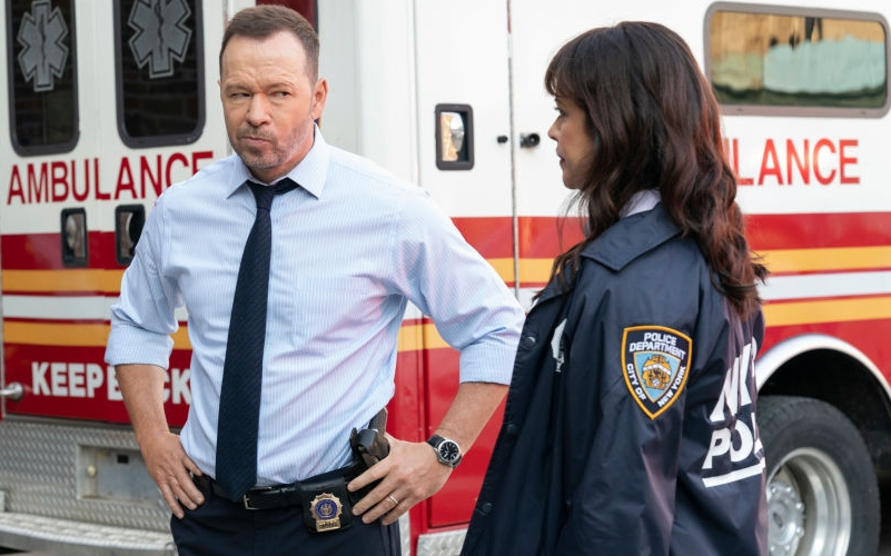 Donnie Wahlber and Marisa Ramirez on Blue Bloods