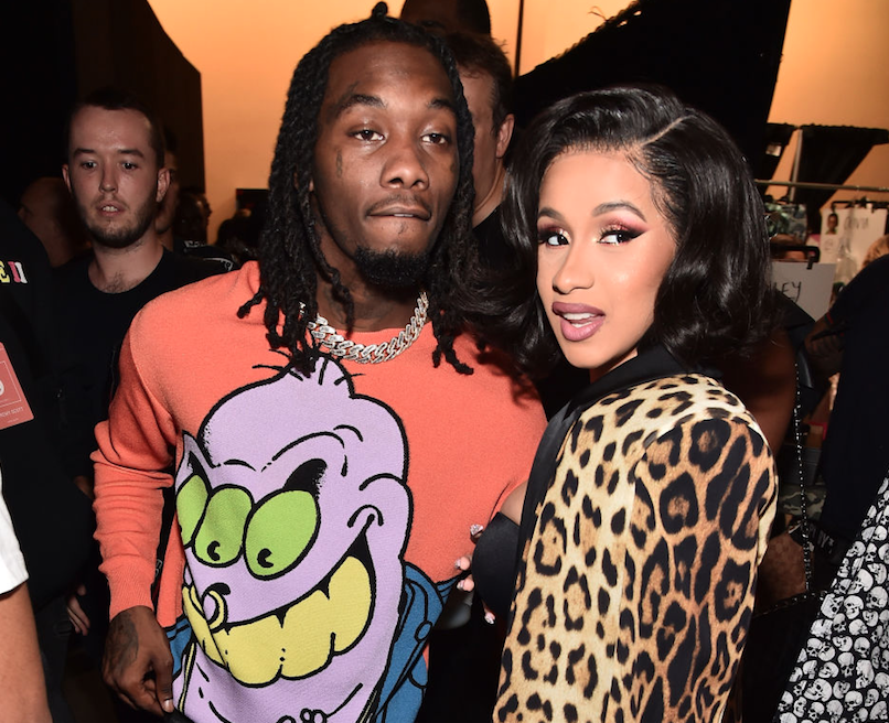 Cardi B and Offset hanging out together