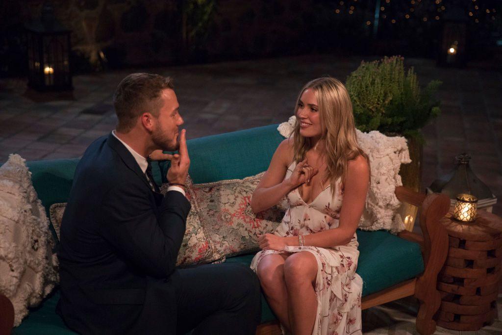 """Cassie Randolph and Colton Underwood on """"The Bachelor"""""""