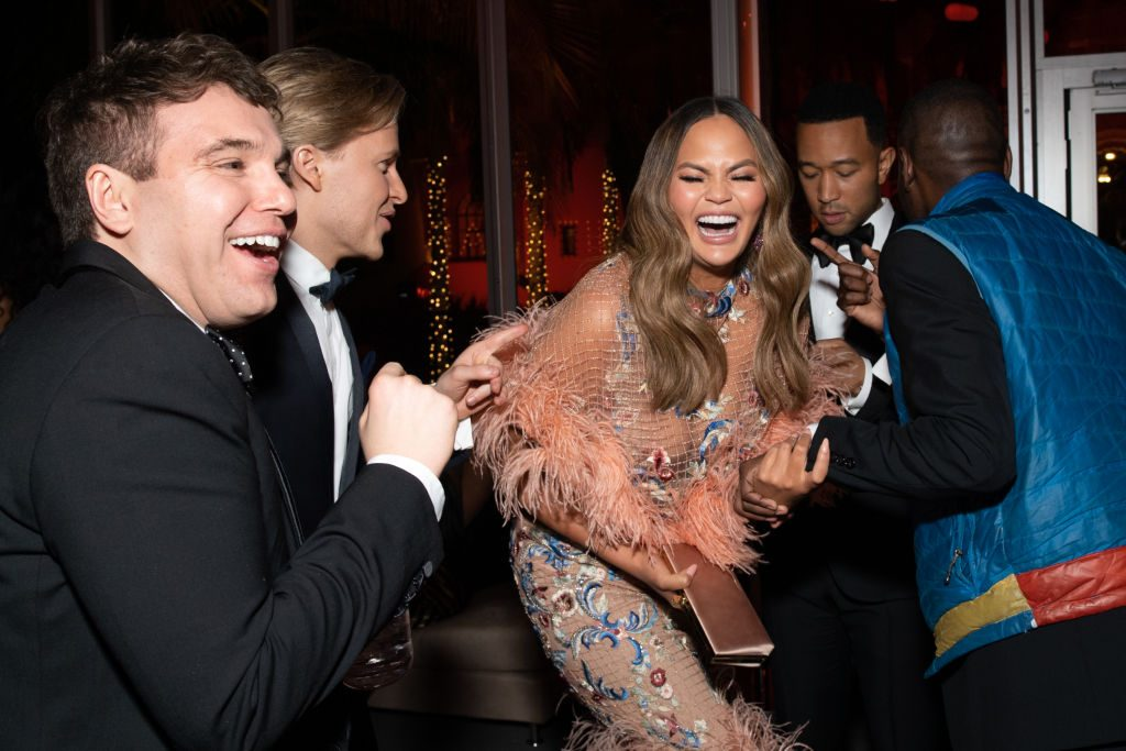 Jon Lovett, Ronan Farrow, Chrissy Teigen, and John Legend