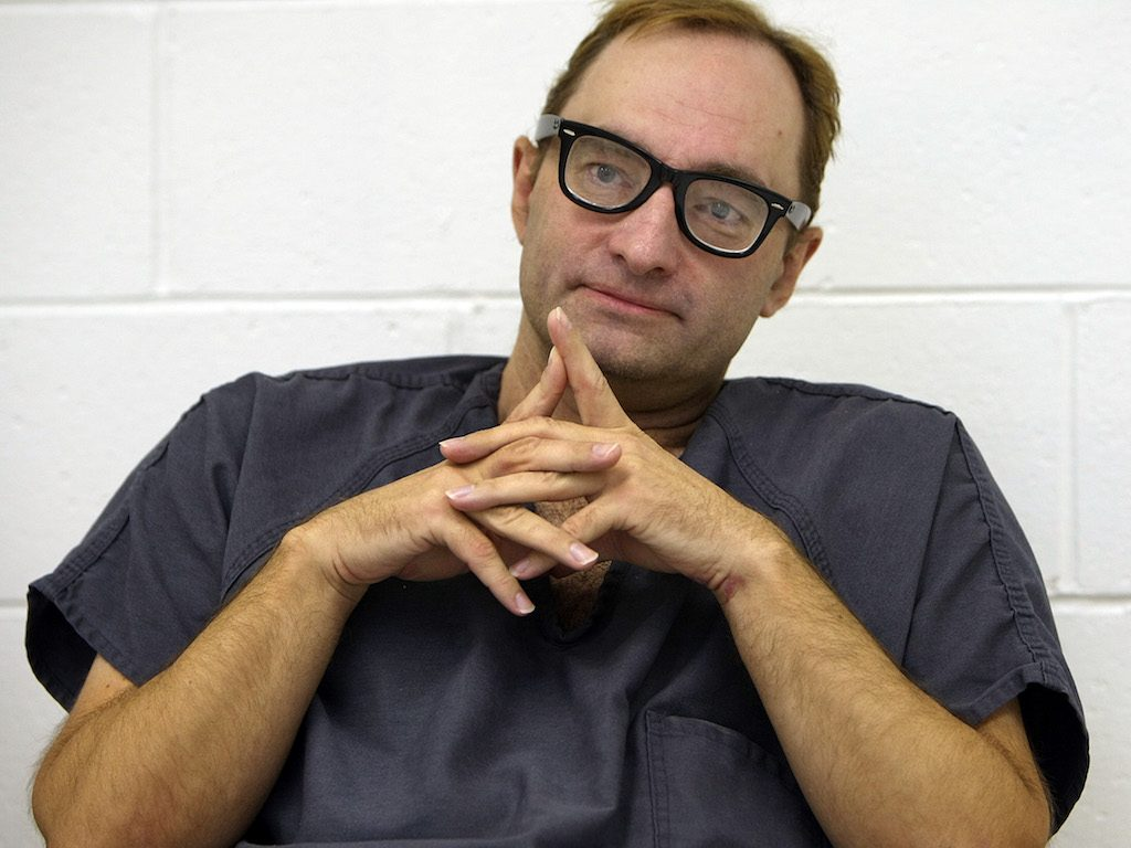 Criminal Clark Rockefeller during an interview with the Boston Globe at the Nashua Street Jail.