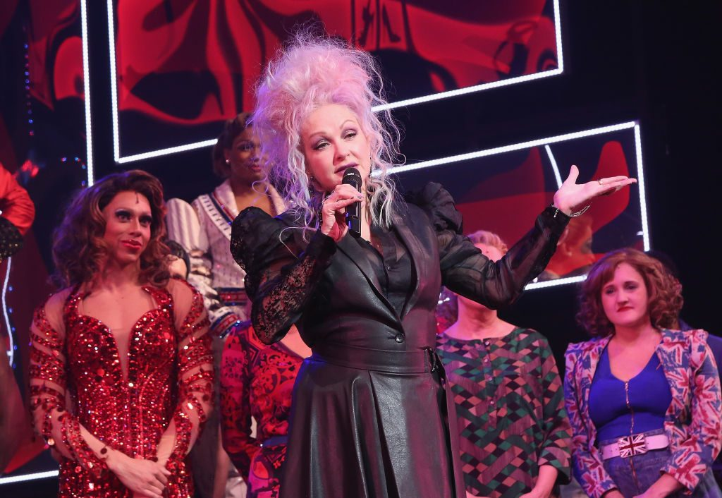 Cyndi Lauper at a Showing of 'Kinky Boots