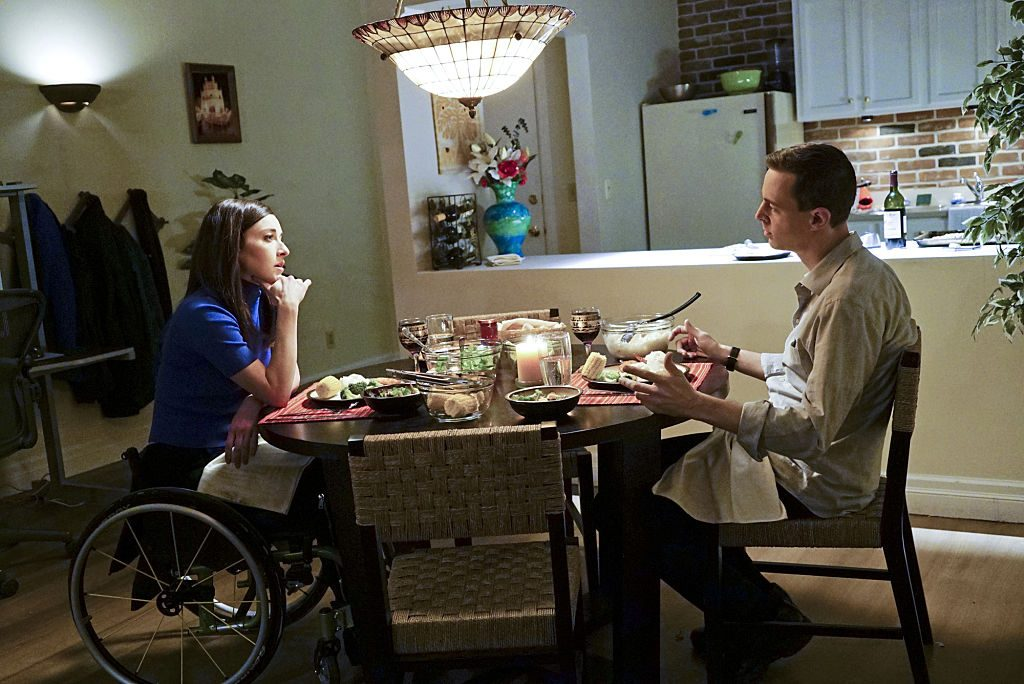 Delilah and McGee at dinner| Sonja Flemming/CBS via Getty Images