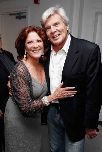Linda Lavin poses with John Davidson