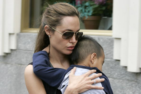 Angelina Jolie with Maddox