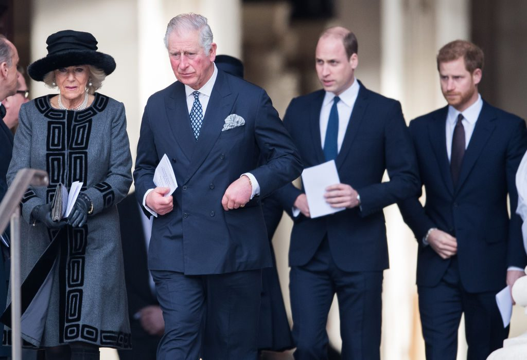 Prince Charles, Prince William, Prince Harry, Camilla Parker-Bowles