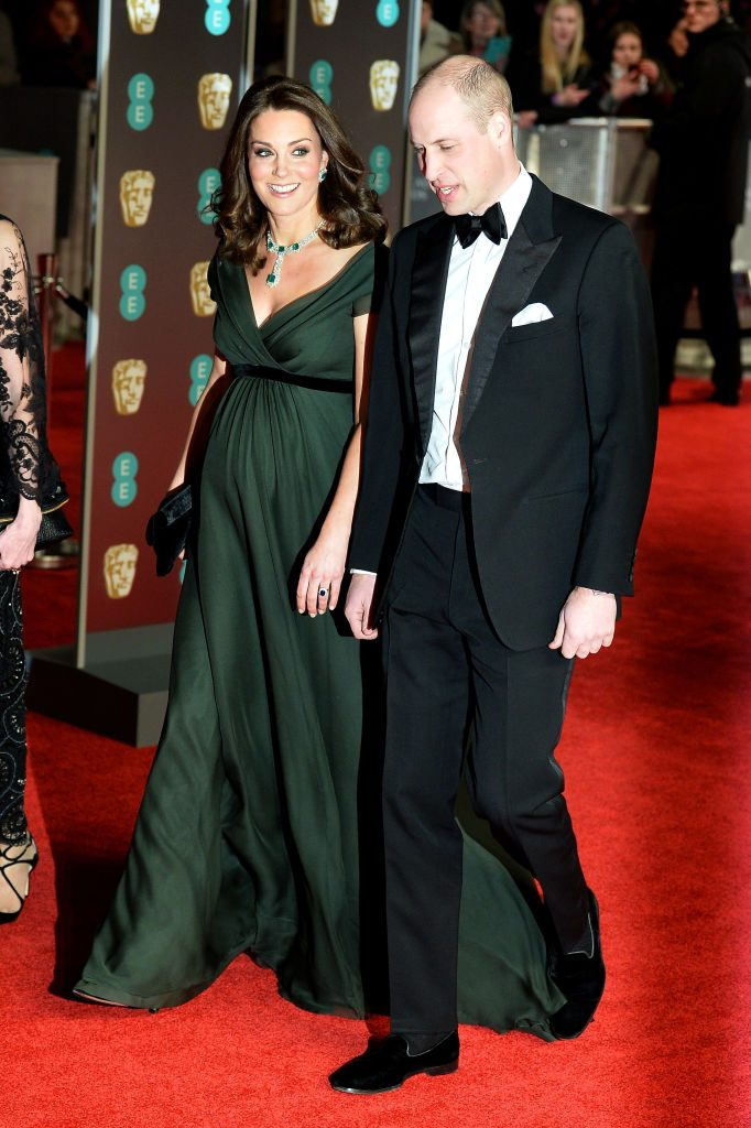 Prince William and Kate Middleton at the BAFTAs in 2018