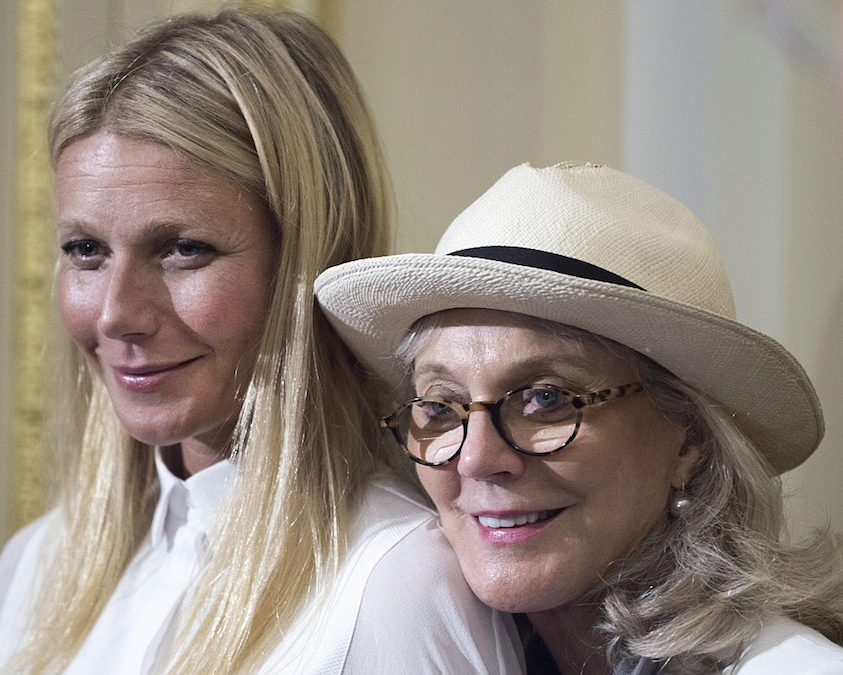 Gwyneth Paltrow standing next to her mother