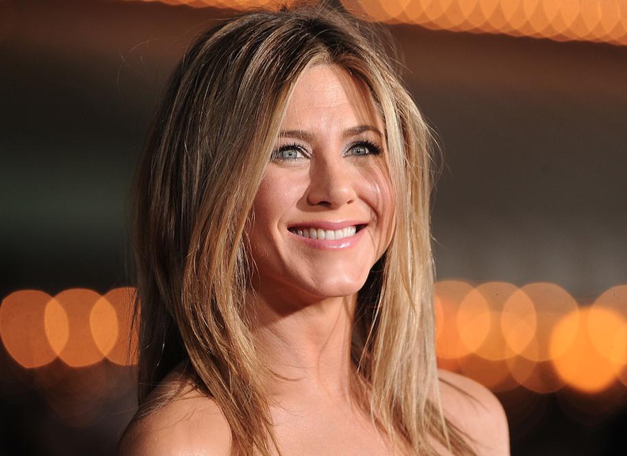 Jennifer Aniston happy