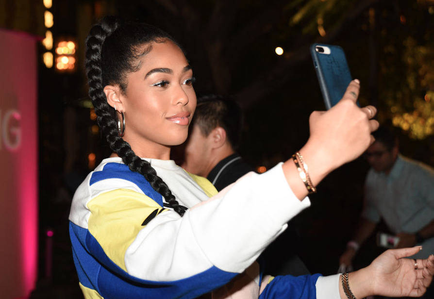 Jordyn Woods on the phone