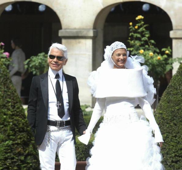 Linda Evangelista and Karl Lagerfeld