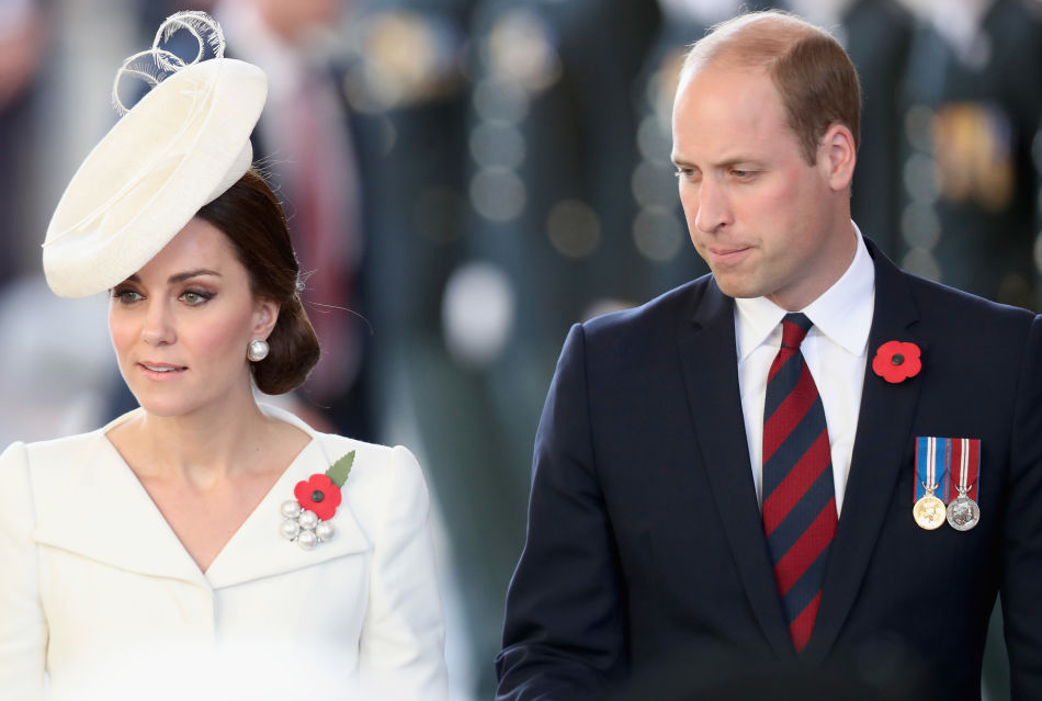 Kate and William walking together