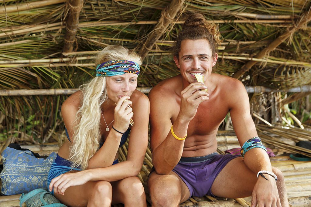 Kelley Wentworth and Joe Anglim on Survivor