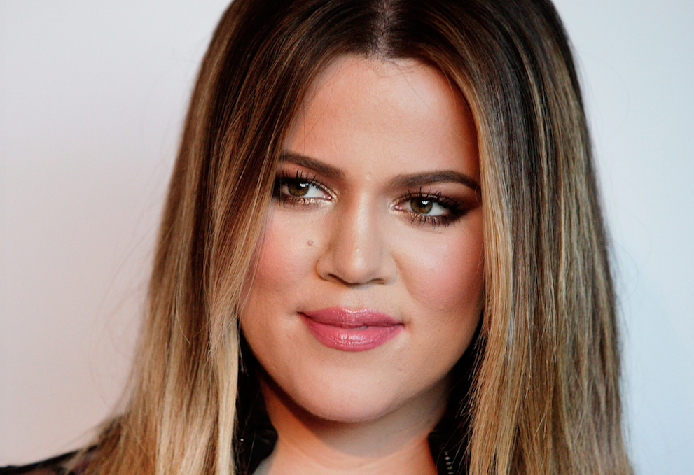 Khloe Kardashian looking hopeful
