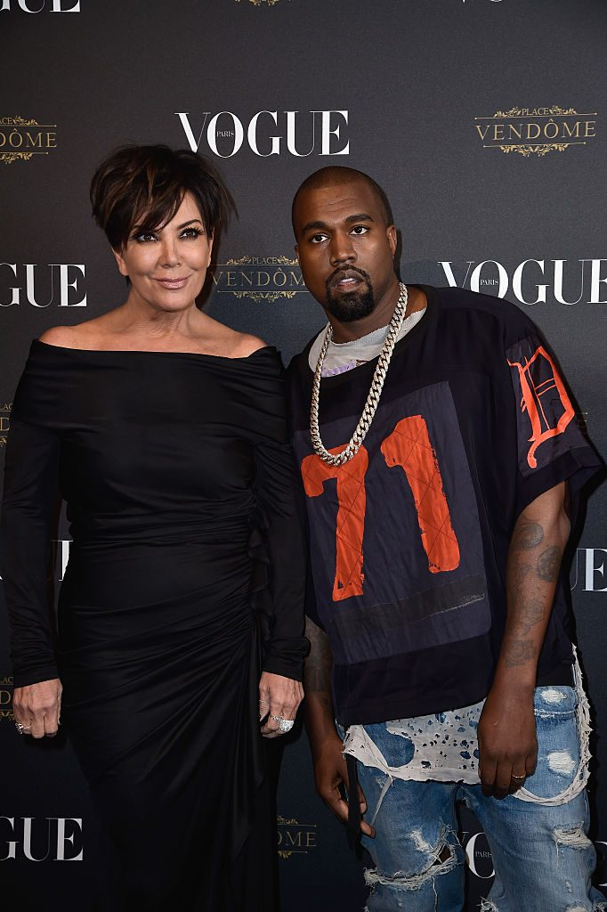 Kris Jenner and Kanye West |  Pascal Le Segretain/Getty Images for Vogue