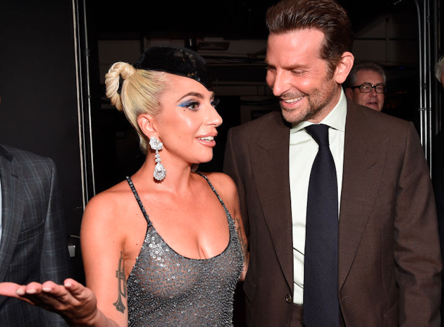Lady Gaga and Bradley Cooper hanging out together