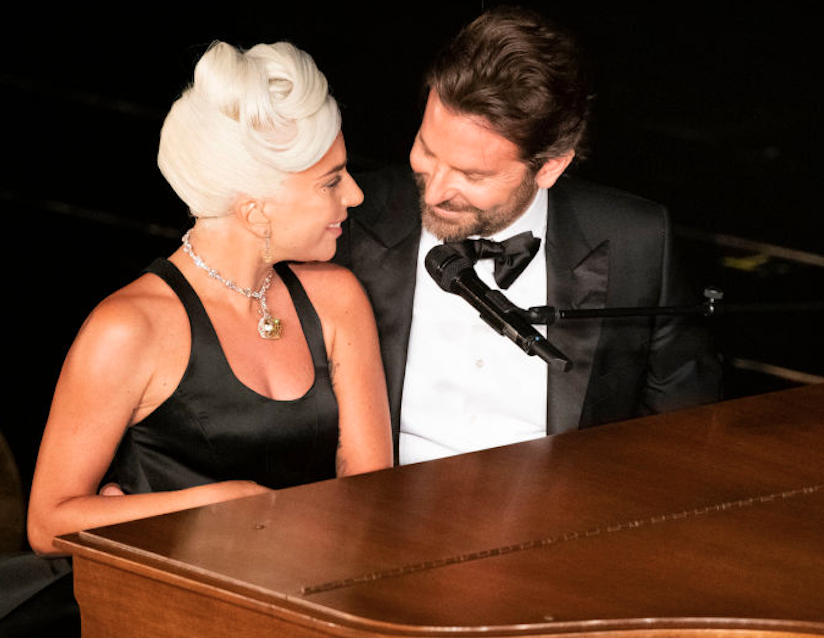 Lady Gaga and Bradley Cooper playing Shallow