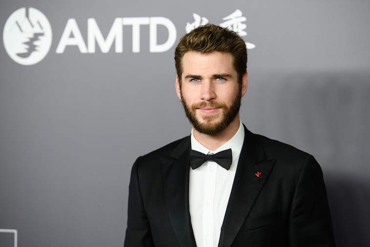 Liam Hemsworth attends the red carpet for the 2018 American Foundation for AIDS Research (amFAR).