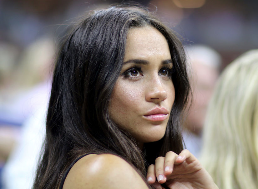 Meghan Markle looking serious
