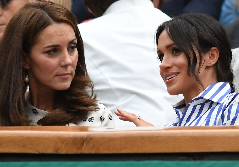 Meghan and Kate talking to each other