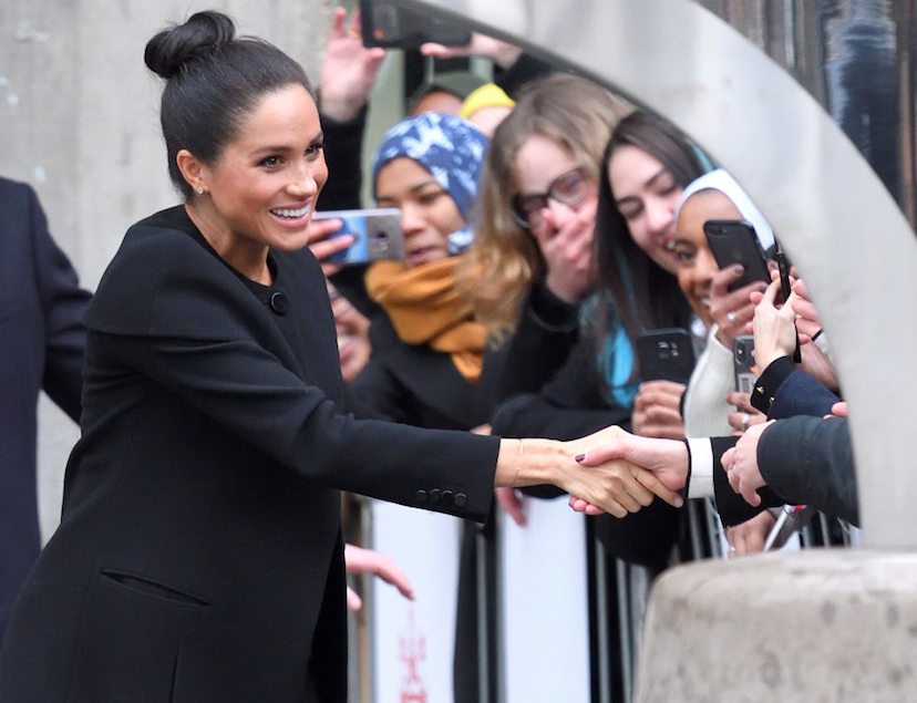 Meghan Markle greeting crowd