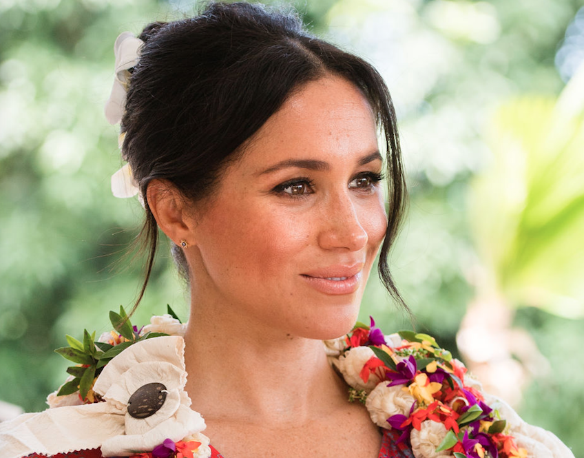 Meghan Markle looking beautiful and wide awake