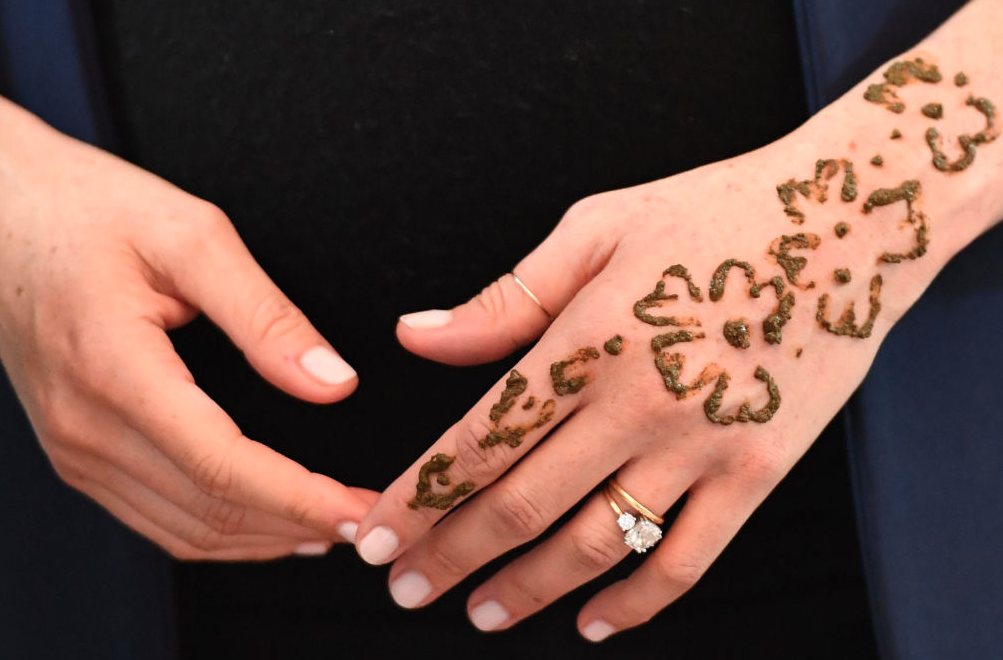 Meghan Markle's tattoo on her hand