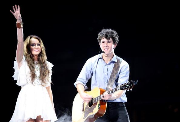 Miley Cyrus and Nick Jonas