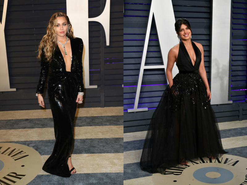 Miley Cyrus and Priyanka Chopra