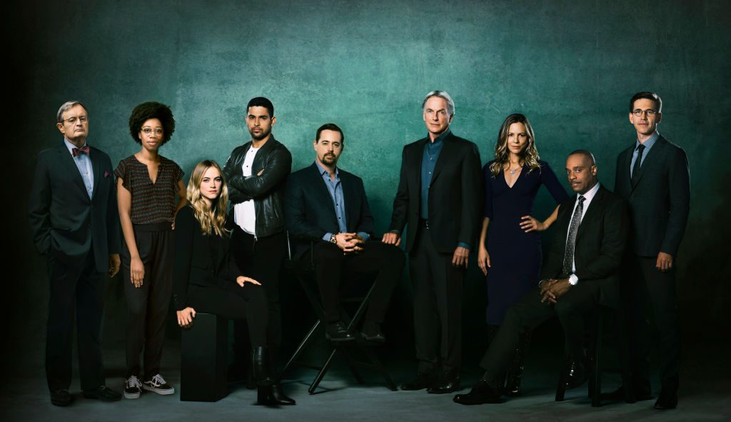Maria Bello (third from right) and the rest of the NCIS Season 16 cast