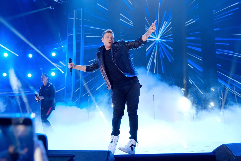 Nick Carter of The Backstreet Boys performs onstage at 2018 CMT Music Awards at Bridgestone Arena on June 6, 2018 in Nashville, Tennessee.