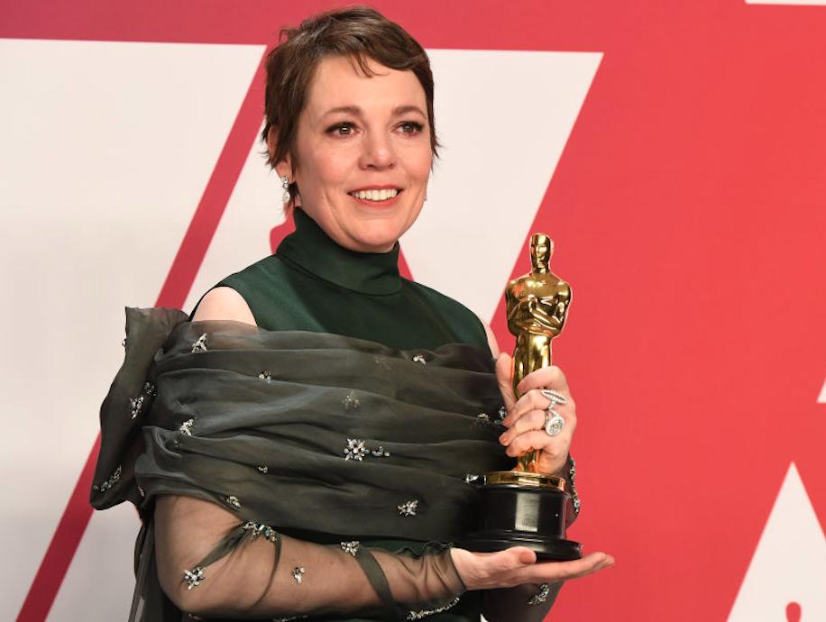 Olivia Colman winning an Oscar