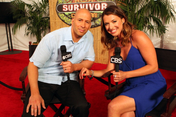 Tony Vlachos and Parvati Shallow on the red carpet during the Survivor live reunion show
