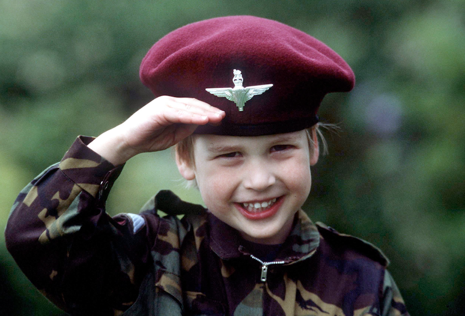Prince William as a child