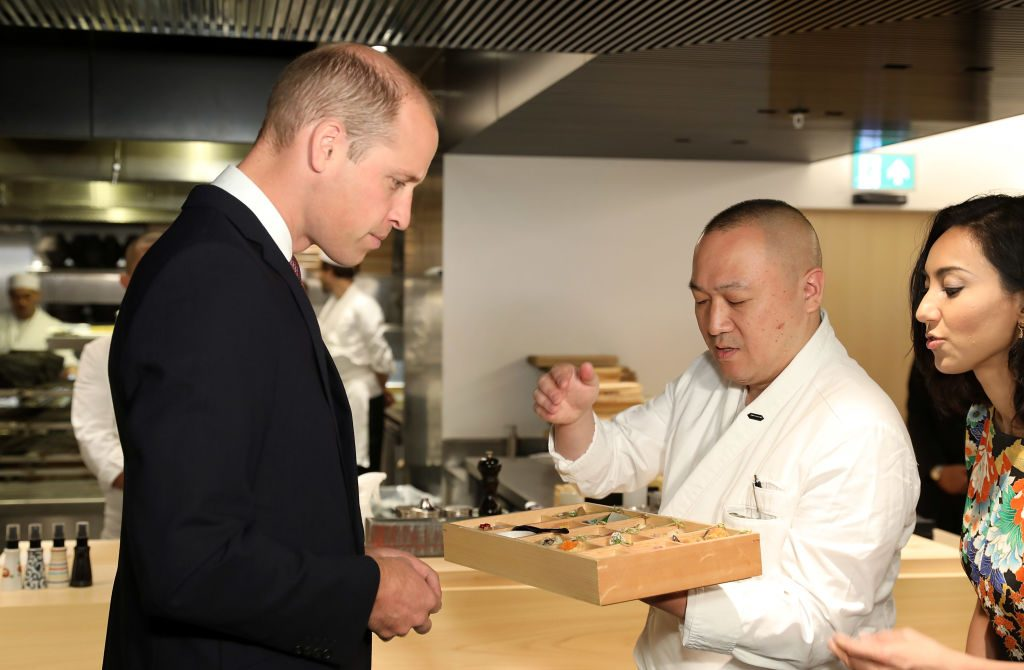 Duke of Cambridge tours the Japan House in London.