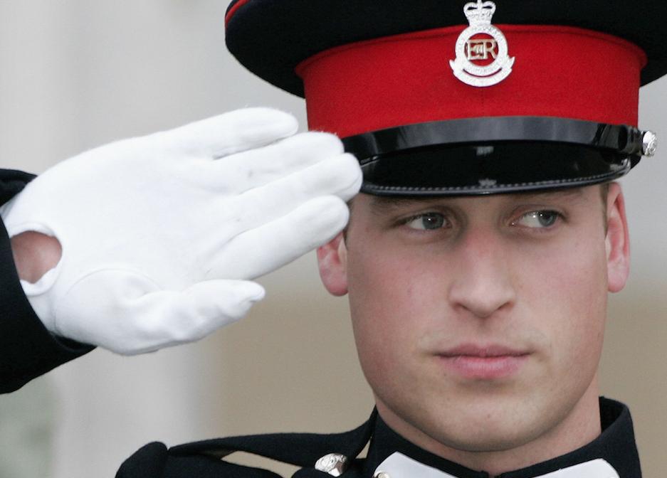 Prince William salutes