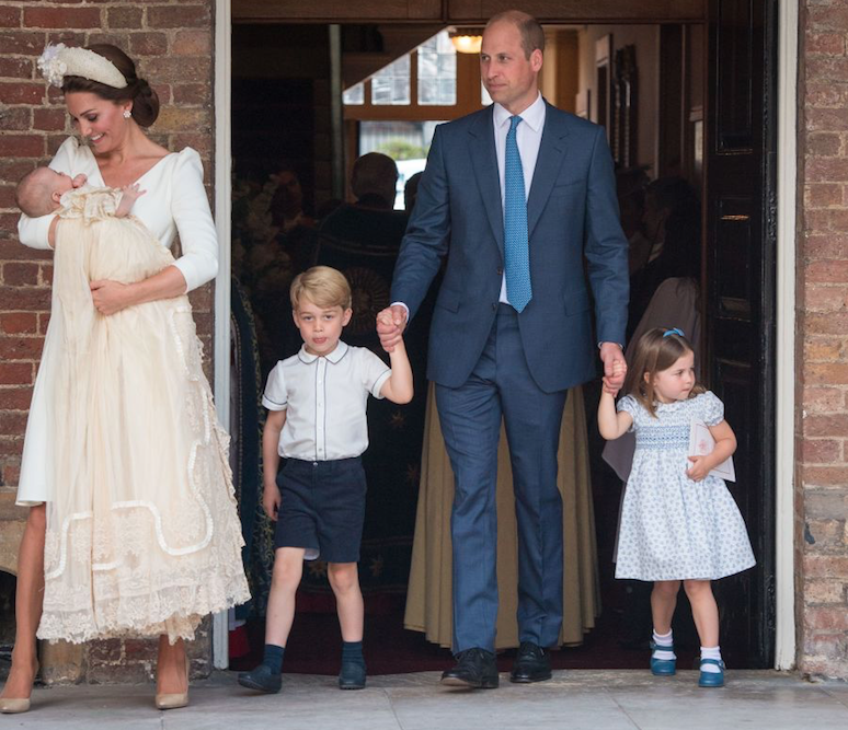 Prince William with his wife and three kids