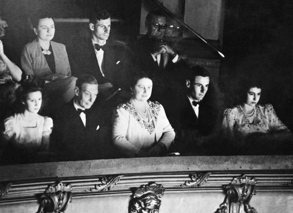 Princess Margaret, Group Captain Peter Townsend, Queen Elizabeth, the Queen Mother and King George VI