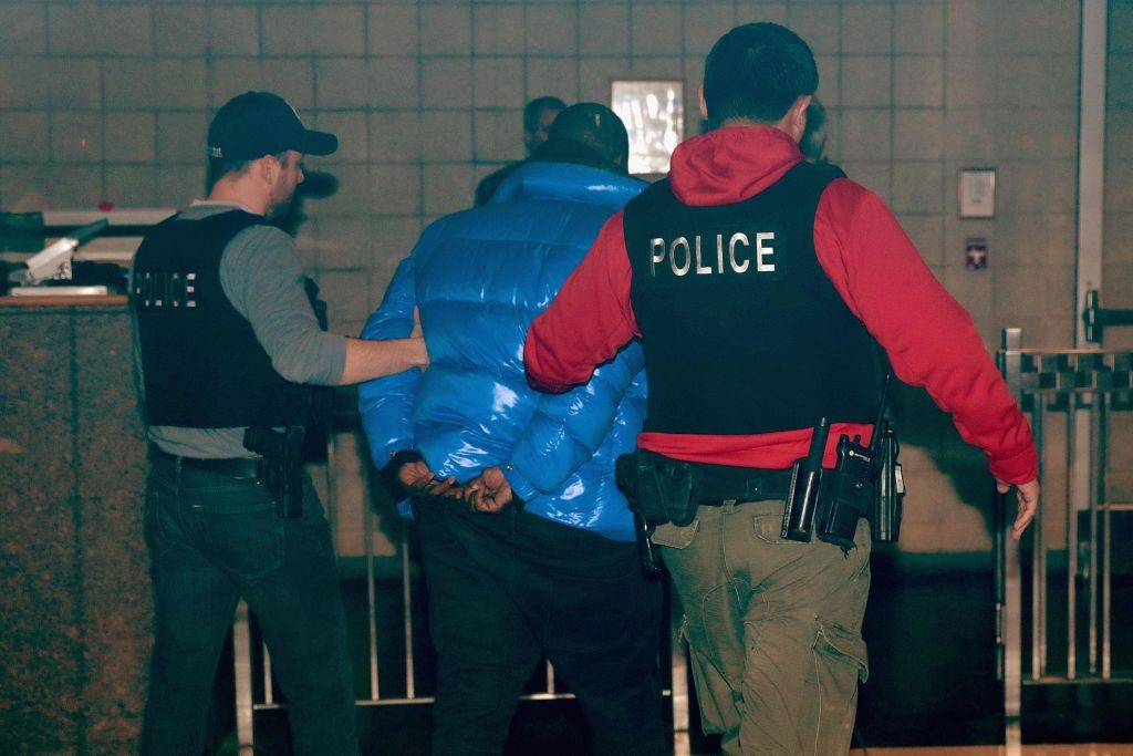 R. Kelly is arrested. | Scott Olson/Getty Images