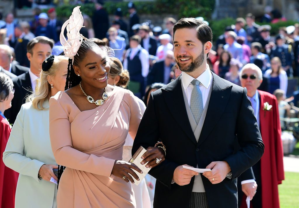 Serena Williams at the royal wedding in May 2018.