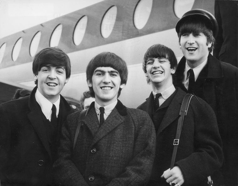 The Beatles (L-R): Paul McCartney,  George Harrison, Ringo Starr, and John Lennon